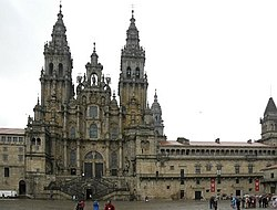 The Cathedral of Santiago de Compostela is the ultimate goal of the pilgrimage.