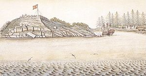 Santa Cruz de Nuca - Image: Spanish fort San Miguel at Nootka in 1793