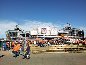 2014 International Champions Cup - Image: Sports Authority Field at Mile High AFC Championship game