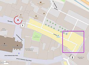 2016 Ansbach bombing - Image: Sprengstoffanschlag von Ansbach – Lageplan