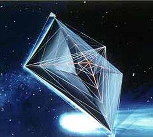 Spacecraft propulsion - Artist's concept of a solar sail