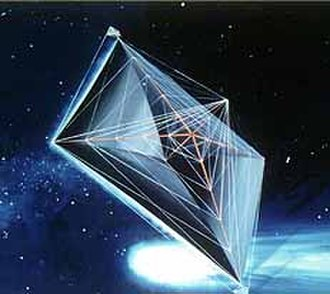 Spacecraft propulsion - Artist's concept of a solar sail