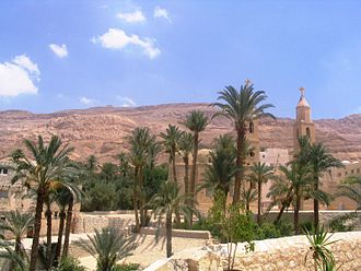 "Monasticism - The Monastery of Saint Anthony in Egypt, built over the tomb of Saint Anthony, the ""Father of Christian Monasticism""."