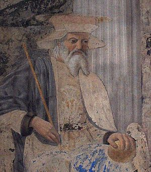 Sigismund of Burgundy - Fresco by Piero della Francesca