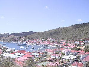 Gustavia, Saint Barthélemy - View over Gustavia