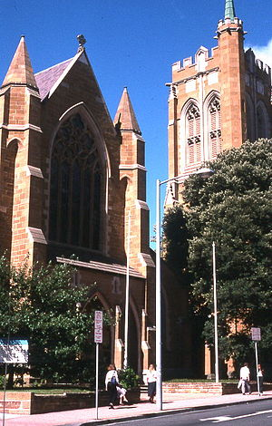 St David's Cathedral, Hobart - View from Murray Street.
