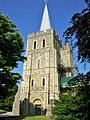 St Mary, Minster in Thanet- spire.JPG