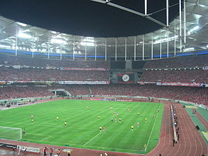 Das Nationalstadion Bukit Jalil beim Finale des Malaysia Cup 2009