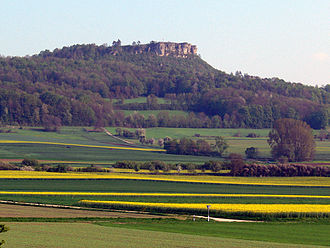 History of Franconia - On the Staffelberg the Celts erected the mighty fortress of Menosgada