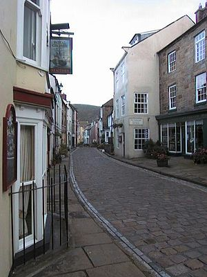 Staithes - A street in Staithes