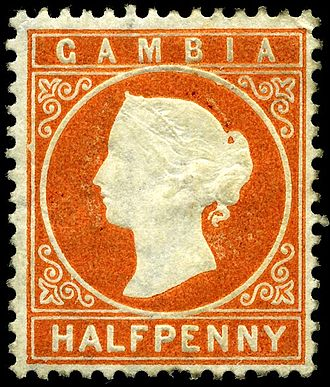 History of the Gambia - An 1880 stamp from Gambia