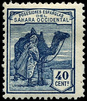 Spanish Sahara - Postage stamp issued in 1924.
