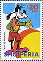 Stamp of Albania - 2001 - Colnect 372090 - Goofy 1932 Animal Cartoon Character.jpeg