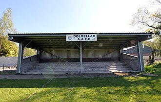 Dolgellau Athletic A.F.C. - Image: Stand at Cae Marian (Dolgellau AAFC) geograph 4452570 by Jeff Buck