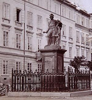 Stanisław Jan Jabłonowski - Monument to Hetman Jabłonowski in Lwów (now Lviv)