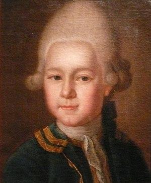 Stanisław August Poniatowski - Aged 14