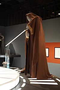 Star Wars and the Power of Costume July 2018 10 (Mace Windu's Jedi robes from Episode III).jpg