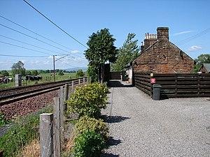 Dinwoodie railway station - Dinwoodie station site in 2008