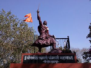 Tulapur - Statue of Sambhaji Maharaj in Tulapur