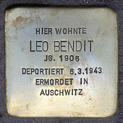 Photo of Leo Bendit brass plaque