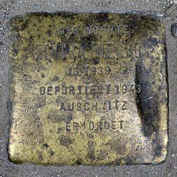 Photo of Elvira Niegho brass plaque