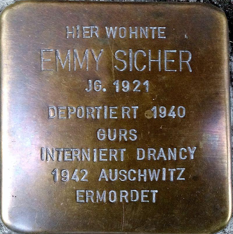Stolperstein EMMY SICHER.jpg