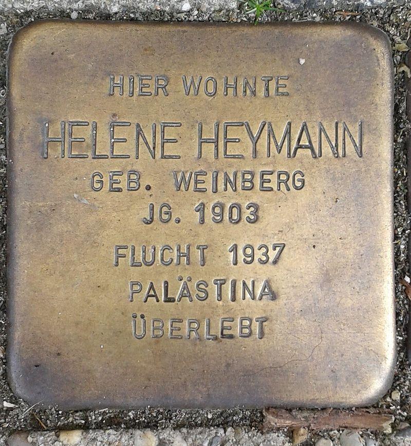 Stolperstein Emmerich Gasthausstraße 3 Helene Heymann