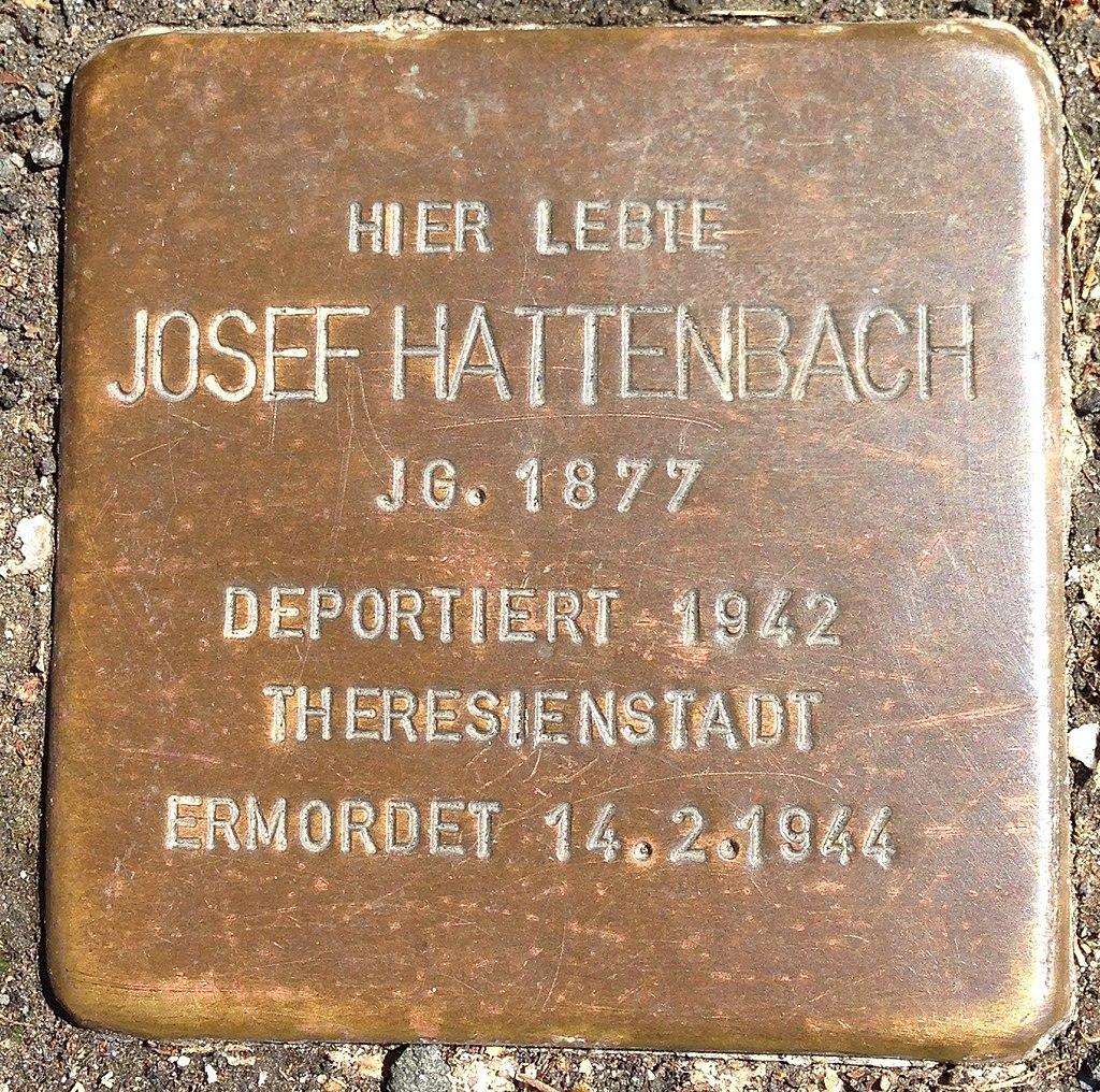 Stolperstein Herborn Nassaustraße 3 Josef Hattenbach