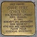 Stolperstein für Chane Beile Schkolnik 2018 (Graz).jpg