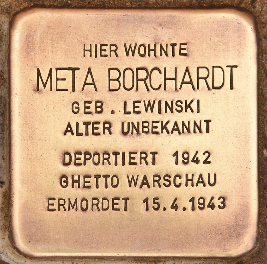 Stolperstein für Meta Borchardt (Kremmen).jpg