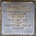 Stumbling stone for Johanna Eckstein (Im Weichserhof 8)