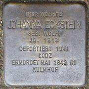 Stolpersteine Köln, Johanna Eckstein (Im Weichserhof 8).jpg