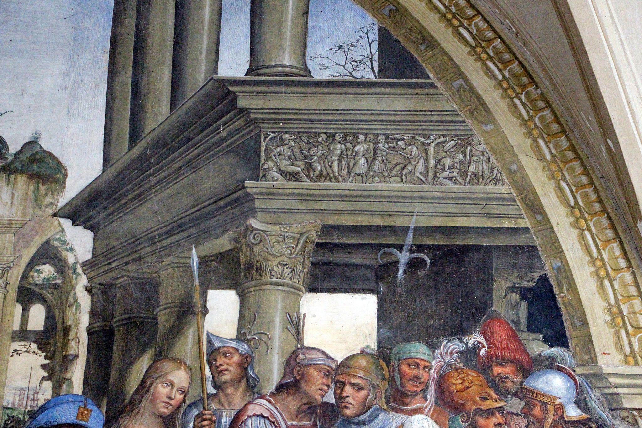Storie di s. benedetto, 12 sodoma - Come Benedetto riceve li due giovanetti romani Mauro e Placido 04
