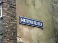Straatnaambord Mattensteiger, Dordrecht.png