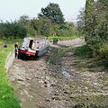 Stranded narrowboat on the Stourbridge Canal, Stourton Staffordshire - geograph.org.uk - 983949.jpg