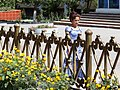 Street Scene with Flowers and Passing Woman - Fergana - Uzbekistan (7535771060).jpg