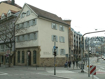 The birthplace of Hegel in Stuttgart, which now houses the Hegel Museum