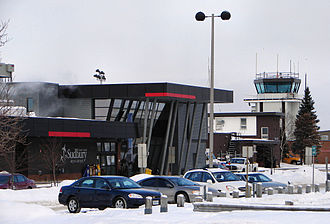 Sudbury Airport - Terminal building and control tower.