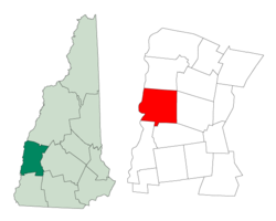 Location within Sullivan County, New Hampshire