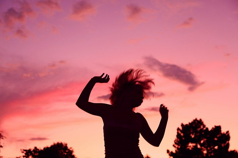 File:Sunset Party Dancing Girl Silhouette.jpg