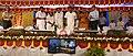 Suresh Prabhakar Prabhu inaugurating the various passenger amenities at Kollam, Ernakulam Town and Kannur Railway Stations, through video conferencing from Thiruvananthapuram Central Railway Station.jpg