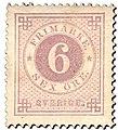 Swedish stamp 1872 6 Öre POST.054057.jpg