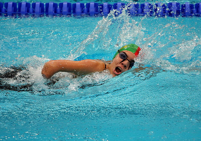 Fichier:Swimming at the 2008 Summer Paralympics - women Freestyle swimming.jpg