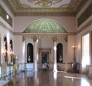 Adam style - Grand Neoclassical interior by Robert Adam, Syon House, London