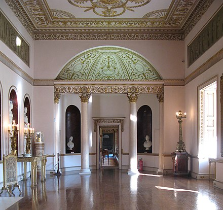 Grand Neoclassical interior by Robert Adam, Syon House, London Syon House 2.jpg