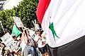 Syrian National Flag- Beginning of the Protest (9639303271).jpg