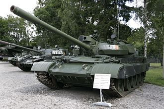 T-54/T-55 operators and variants - Image: T 55AM2B at Panzermuseum Munster