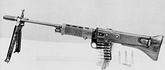 M60 machine gun - The experimental T-44 machine gun developed from the German FG 42 and MG 42 machine guns.