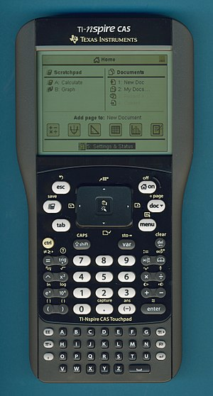 TI-Nspire series - Image: TI Nspire CAS Touchpad