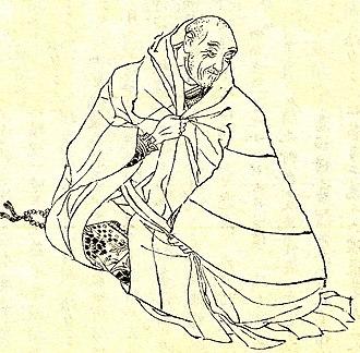 Taira no Kiyomori - Taira no Kiyomori in his later years, in book illustration by Kikuchi Yōsai